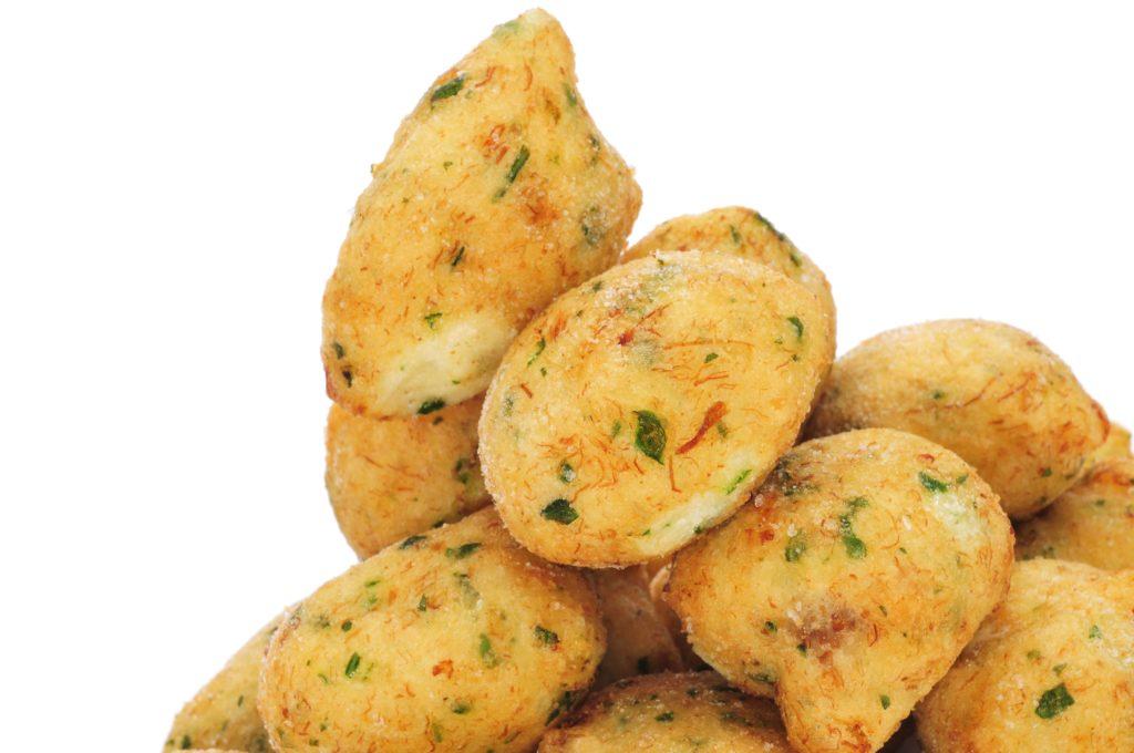 Receta de buñuelos con jamón ibérico y queso